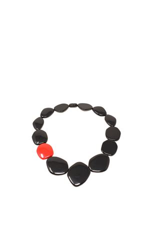 Black and red resin necklace  Bijoux de Capri | 35 | CL002BGNERO