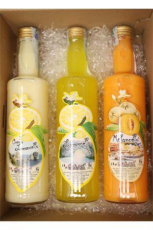 confezione regalo con tris di creme liquore Capri Più | 20000064 | BOX10TRIS