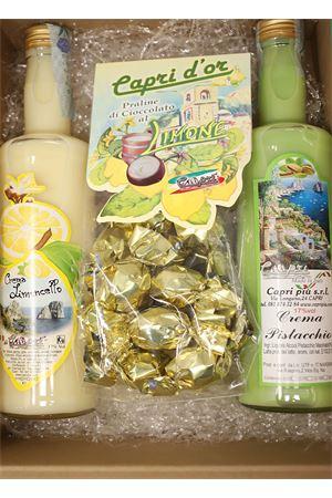 confezione regalo con tris di creme liquore Capri Più | 20000064 | BOX11CREMALIMPISTPRALINE