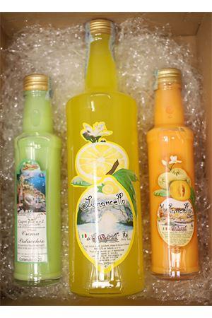Gift box with liqueurs creams and Limoncello Capri Più | 20000064 | BOX14LIMGR2CREME