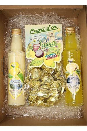 box regalo con limoncello e cioccolata Capri Più | 20000064 | BOX2LIMCREMCIOCC