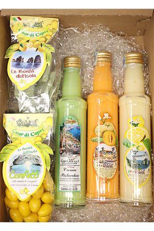 Box regalo con limoncello, creme, confetti e croccanti Capri Più | 20000064 | BOX4CREMCIOCCCONF