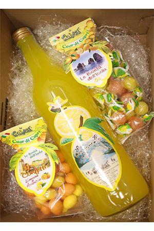 box regalo con limoncello, confetti e caramelle di capri Capri Più | 20000064 | BOX5LIMCONFCAR