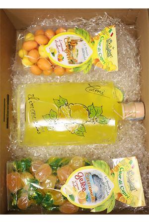 box regalo con limoncello, gelè e confetti al limone Capri Più | 20000064 | BOX8LIMGELECONF