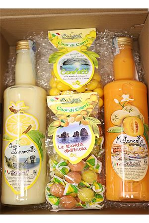 Gift box with liqueurs creams and candies  Capri Più | 20000064 | BOX9CREMECONFPERLE