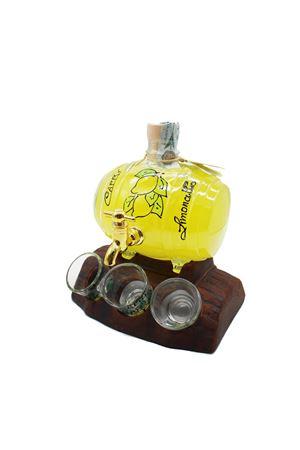 Barrel-shaped bottle of Limoncello di Capri  Capri Più | 20000064 | LIQ50BOTTE6GIN500ML