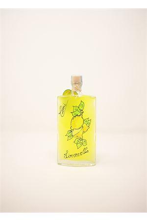 limoncello di capri in bottiglia dipinta con limoni Capri Più | 20000064 | QUADRA20DEC200ML