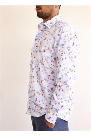 marine subjects cotton shirt  Colori Di Capri | 6 | COTONESLIMCORALREEF