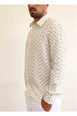 Avocado pattern linen shirt  Colori Di Capri | 6 | REGULARAVOCADOPRATO