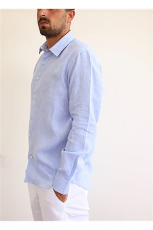 Light blue linen shirt  Colori Di Capri | 6 | REGULARAZZURROFIREWORKS