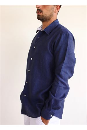 Blue linen shirt Colori Di Capri | 6 | REGULARBLUCONCHIGLIE