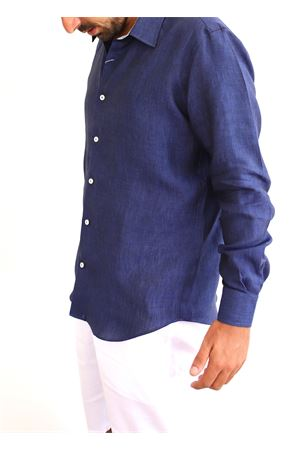 Blue linen shirt  Colori Di Capri | 6 | REGULARBLUNOTTEPRASLEY