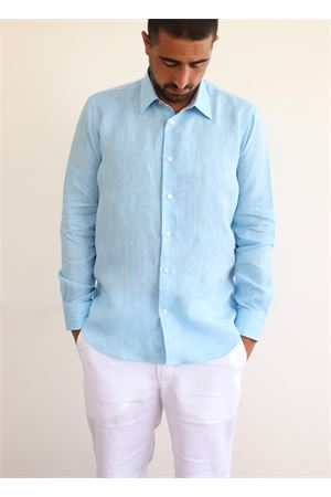Light blue linen shirt  Colori Di Capri | 6 | REGULARMALIBLUESAGONI