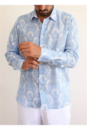 Pure linen shirt with cashmere pattern  Colori Di Capri | 6 | REGULARPRASLEY