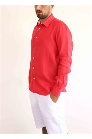 Red linen shirt  Colori Di Capri | 6 | REGULARROSSOPOMODORO