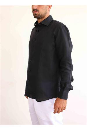 Black linen shirt  Colori Di Capri | 6 | SLIMNERO