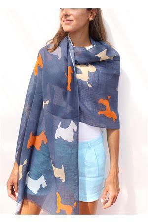 Linen stole with dachshunds pattern  Colori Di Capri | 61 | STOLALINENBLU