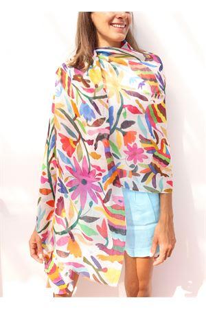 stola in lino a fantasia fiori Colori Di Capri | 61 | STOLALINENFIORI