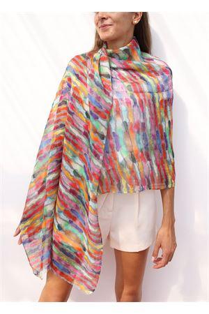 stola in lino a fantasia multicolor Colori Di Capri   61   STOLALINENMULTICOLORE