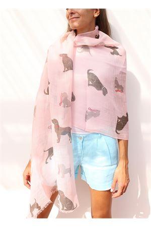 pink linen stole  Colori Di Capri | 61 | STOLALINENPINNK BASSOTTI