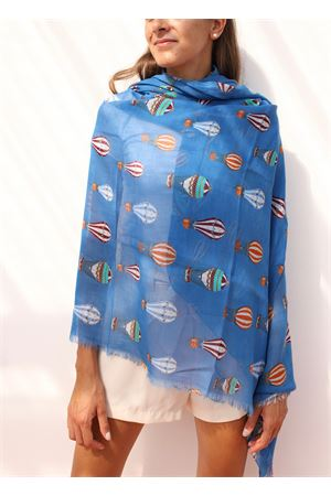 Cotton stole with hot air balloons Colori Di Capri | 61 | STOLAPESCI