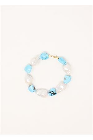 bracciale con perle barocche e turchese Don Alfonso Gioielli | 36 | AF896TURCHESE