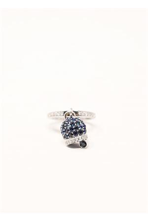anello in oro bianco e diamanti con campanella di capri Don Alfonso Gioielli | 5032250 | AG035BLU