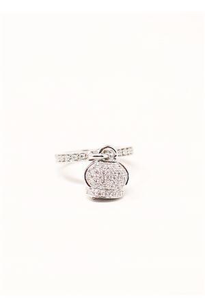 anello in oro e diamanti e zaffiri con campanella di capri Don Alfonso Gioielli | 5032250 | AH240BIANCO