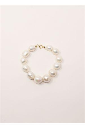 bracciale con perle barocche bianche e chiusura in oro Don Alfonso Gioielli | 36 | AL097BIANCO
