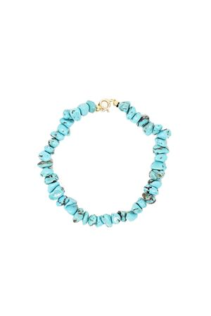 Natural turquoise bracelet with gold closure  Don Alfonso Gioielli | 36 | AL232TURCHESE