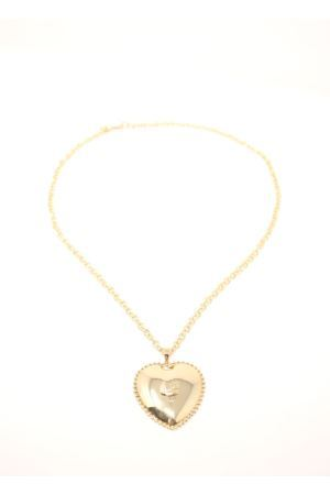 Necklace with hearth pendant  Faraglioni | 35 | CL002FAOROGIALLO