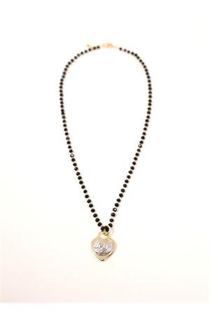 Necklace with hearth and Faraglioni  Faraglioni | 35 | CL003FAOROGIALLO