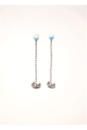 Pendant earrings with turquoise stones and Faraglioni  Faraglioni | 48 | OR006FAOROGIALLO