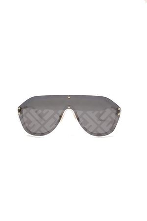 Fendi sunglasses model fm0039 with logo on lenses Fendi | 53 | FFM0039GRIGIOLOGOFENDI