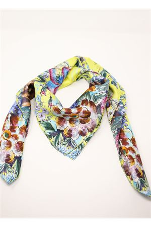 Flowered pattern pure silk scarf  La Dolce Vista | -709280361 | SUNNYFLOWERSSUNNYFLOWERS