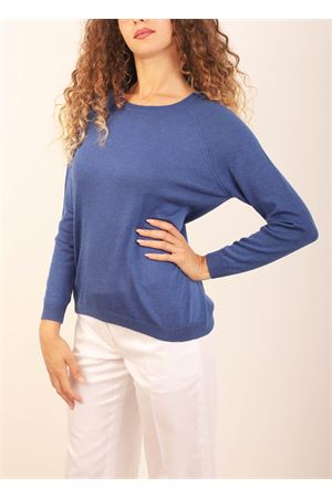 Blue silk and cashmere sweater  Laboratorio Capri | 7 | FELPAACHILLE