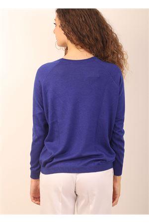 maglia in cashmere blu elettrico Laboratorio Capri | 7 | FELPABELE32766