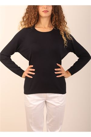 navy blue cashmere sweater  Laboratorio Capri | 7 | FELPABLUENAVY
