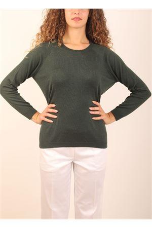 maglia in cashmere verde bosco Laboratorio Capri | 7 | FELPABORNEO