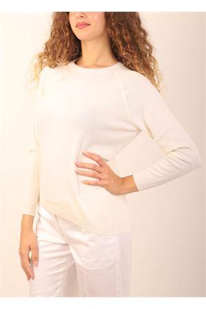 maglia in cashmere bianca Laboratorio Capri | 7 | FELPACANDIDO