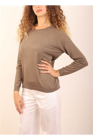 Grey beige color cashmere and silk sweater  Laboratorio Capri | 7 | FELPAFUTON