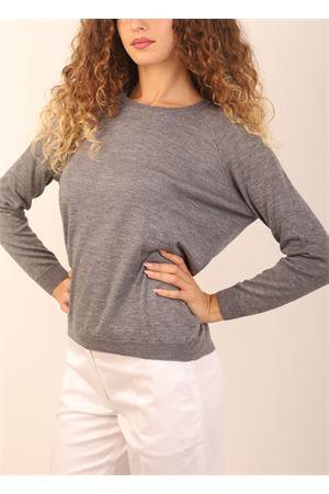 maglia in cashmere grigio Laboratorio Capri | 7 | FELPAGRIGIO31067