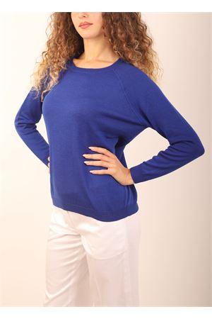 maglia in cashmere blu elettrico Laboratorio Capri | 7 | FELPAWOW