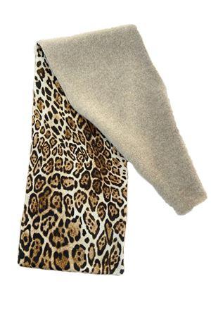 sciarpa in puro cashmere con fantasia leopardata La Dolce Vista | 77 | SCALDACOLLOCASHSETABEIGELEOPARD