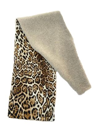 Pure cashmere and silk leopard print scarf  La Dolce Vista | 77 | SCALDACOLLOCASHSETABEIGELEOPARD