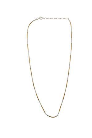 Collana in argento bicolor oro Mediterranee Passioni | 35 | CATENAARGENTOBICOLOREOROBIANCO