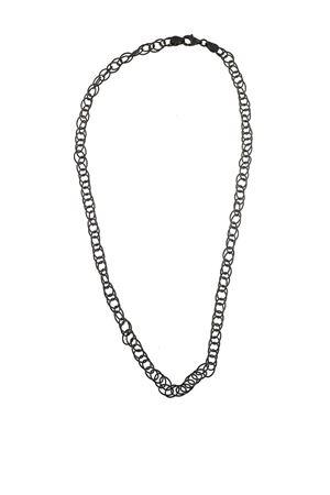 bracciale in argento bicolore Mediterranee Passioni | 35 | CATENALARGAARGENTONERO