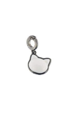 charm a forma di gatto in argento e agata bianca Mediterranee Passioni | 5032249 | CHARM CHARLIEBIANCO