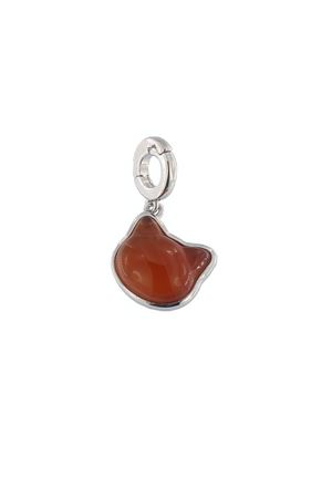 Silver and carnelian cat shaped charm  Mediterranee Passioni | 5032249 | CHARM MARTINBIANCO