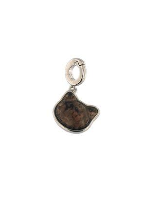 charm a forma di gatto in argento e quarzo fumè Mediterranee Passioni | 5032249 | CHARM SHANELGRIGIO